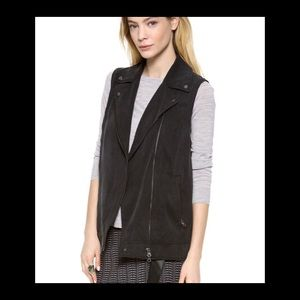Club Monaco Whitney moto sleeveless vest sz s